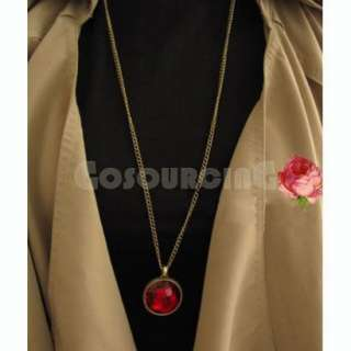Vintage Retro Gothic Style Red Stone Pendants Necklace Gift N0066