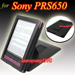 BLACK LEATHER CASE COVER for SONY POCKET READER PRS 650