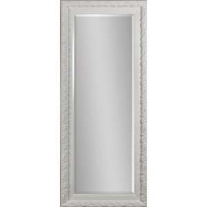 Full length Beveled Mirror   White Lacquered Frame
