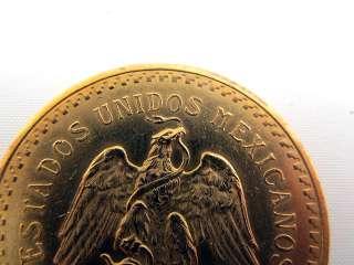 50 Peso 37.5 Gram Pure Gold Mexican Coin Centenario 1821   1931