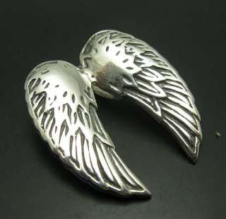 STERLING SILVER PENDANT ANGEL WINGS SOLID 925 NEW