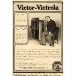 1909 Ad Victor Victrola Talking Machine Phonograh Music