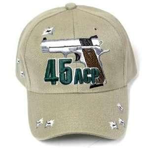 STONE 45 ACP COLT PISTOL GUN REVOLVER HAT CAP ADJ NEW