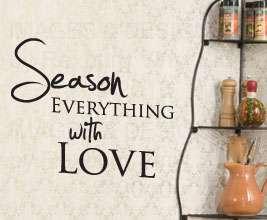 Season Love Kitchen Vinyl Wall Sticker Art Inspirational Decal Quote