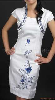 Sexy Chinese silk Womens Dress Cheong Sam SZS M L XL XXL 3XL
