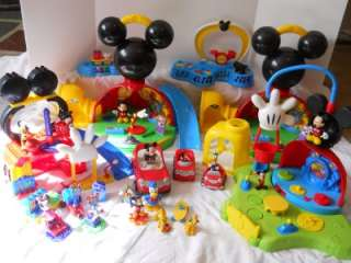 MICKEY MOUSE Clubhouse HUGE lot of PLAYHOUSES CARS FIGURES Mega Blocks