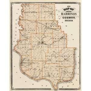 HARRISON COUNTY INDIANA (IN) LANDOWNER MAP 1876
