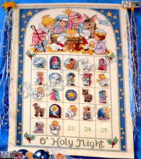 Dimensions O HOLY NIGHT Christmas Advent Calendar Counted Cross