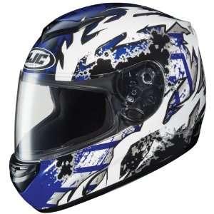 HJC CS R2 Skarr Full Face Motorcycle Helmet Blue