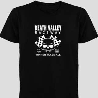 Hot Rod GearHead Death Valley Raceway Skull Flags T Shirt