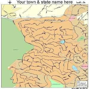 Street & Road Map of Emerald Lake Hills, California CA