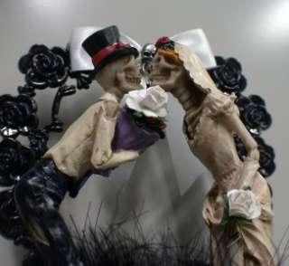 Jewel Halloween Wedding Cake Topper LOT Glasses Knife Garter