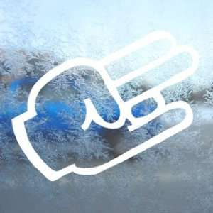 SHOCKER Hand Sign White Decal Car Window Laptop White Sticker