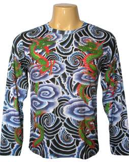 RYU DRAGONS PN Japan Tattoo IREZUMI Shirt LONG SLEEVE L