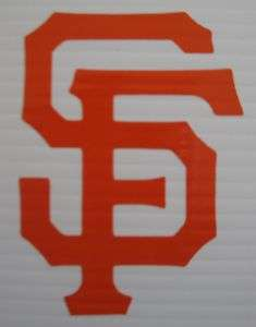 SF GIANTS VINYL DECAL STICKER CHOOSE SIZE AND COLOR