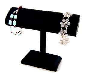 Black Velvet Tall T Bar Bracelet Watch Display 7 x 6