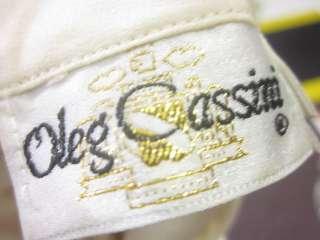 OLEG CASSINI IVORY Beads Sequins Long Sleeves Blouse 4