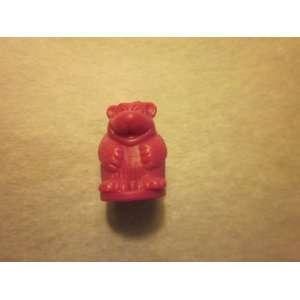 1995 Mastermind for Kids Game Piece Dark Pink Bear