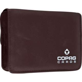 Copag High Quality Leather Two Deck Playing Card Case