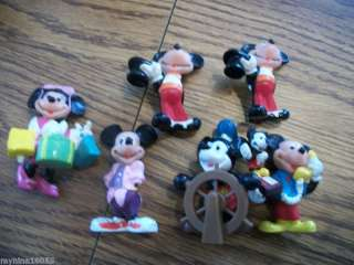 rubber mickey minnie figures walt disney productions