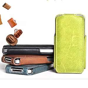 Rock European Leather Flip Cover Case for iPhone 4