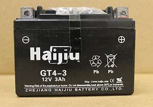 Sealed Battery 12V 3AH YTX4L BS ATV Scooter Motorcycle