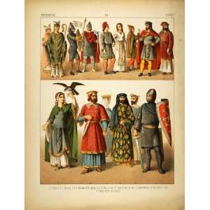 1882 Costume French Medieval Knight First Crusade King