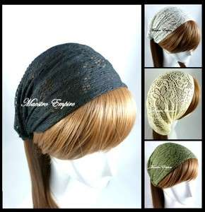 Crochet Flower Lace Pattern Head Hair Band Headwrap Headband