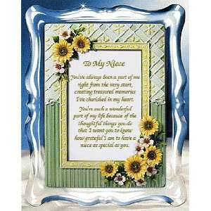 Birthday Gift for a Favorite Niece   Three Dimensional Ceramic Frame