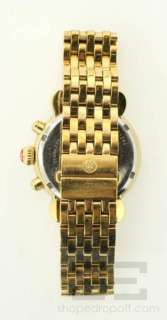Michele CSX Chronograph Gold, Mother of Pearl & Diamond Bezel Watch