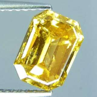 02 Cts NATURAL FANCY GOLDEN YELLOW UNHEATED DIAMOND
