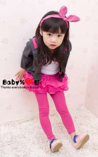 Cotton Hoodies Coats W/ Hot Pink Ears & Heart Buttons So CUTE