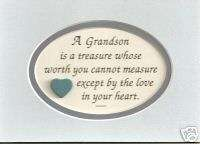 GRANDSONs treasure verses poems LOVE In HEART plaques