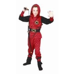 Ninja Ranger   Red, Child Large Costume Toys & Games