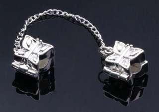 Safety Chains Stopper Clip&Lock Fit Bracelets 10pcs