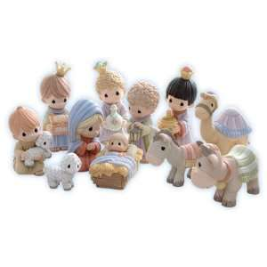 Come Let Us Adore Him Precious Moments 11 Piece Mini