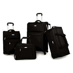 Samsonite 4 piece Travel Bag Set   Black