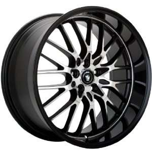 17x8 Konig Lace (Gloss Black w/ Machined Face) Wheels/Rims