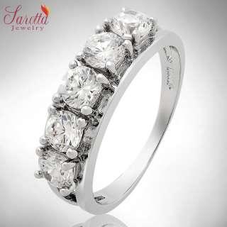 Xmas Gift Round Cut White Fine Clear Topaz Ladies Ring Fashion Jewelry