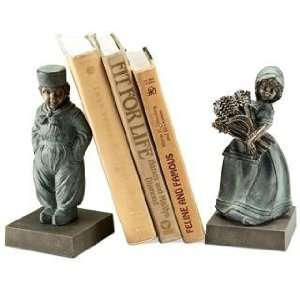 Traditional Dutch Boy & Girl Bookends (pair)