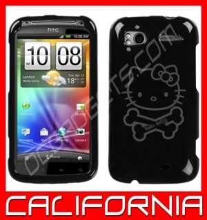 HELLO KITTY CROSSBONES BLACK COVER CASE HTC SENSATION