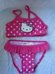 HELLO KITTY Toddler Girls 2 Piece Swimsuit Pink NWT