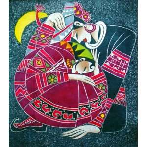 High Quality Chinese Art Batik Tapestry Love Everything