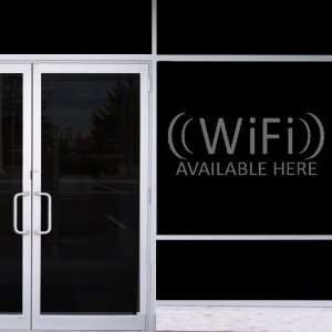 StikEez Grey Large WiFi Available Here Window & Wall Decal