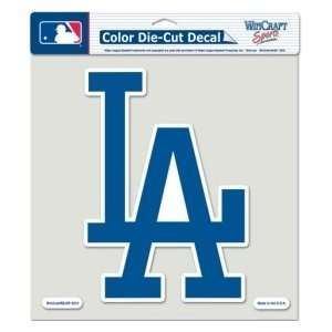 Los Angeles Dodgers Die Cut Decal   8x8 Color Sports