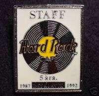 Reykjavik 5 ANNIVERSARY STAFF Hard Rock Cafe Pin WHITE