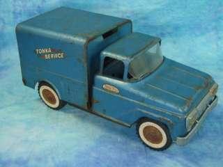 Vintage Die Cast Metal Tonka Blue Service Delivery Truck