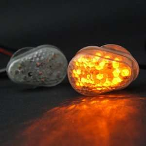 Clear Lens Amber LED Light Turn Signals For Honda CBR1000