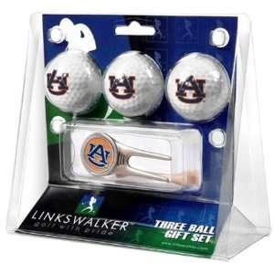 Auburn University Tigers AU NCAA 3 Ball Gift Pack & Cap
