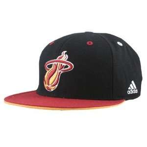 adidas Miami Heat Black Crown Team Kolors Fitted Hat